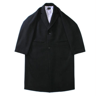 Melton chester coat / Black