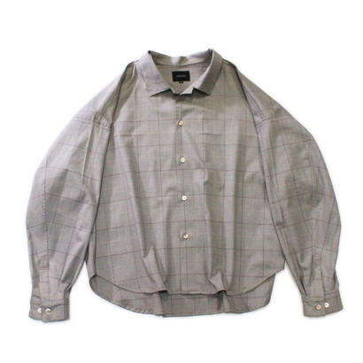Big shirt jacket 改 - Glen check / Beige