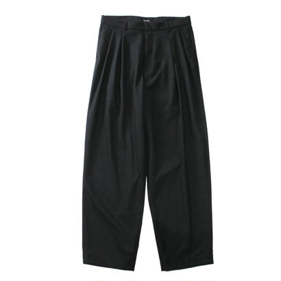 2 tucks wide trouser - Solid