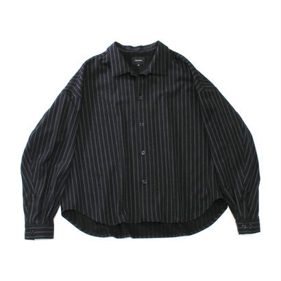Big shirt jacket 改 - Double stripes