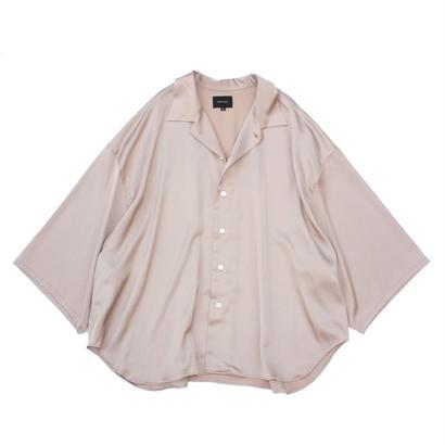 Haori Shirt - Sateen / Nude Pink