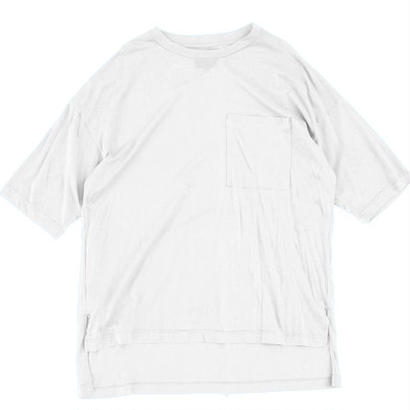Big Pocket Tee - Tencel Cotton / White