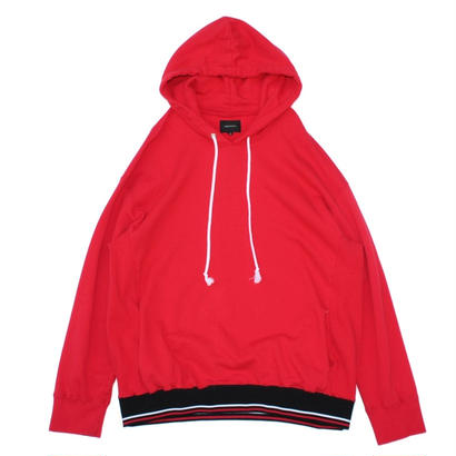 Stripe Rib Over Parka / Red