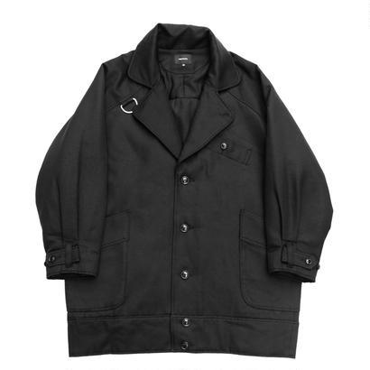 Double Breasted Military Coat - Wool Cupra Serge