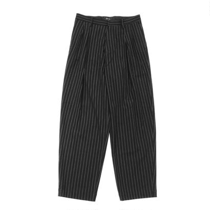 2 tucks wide trouser - Double stripes