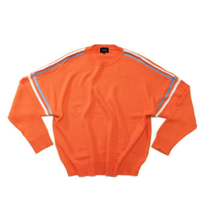 Big line knit / Orange