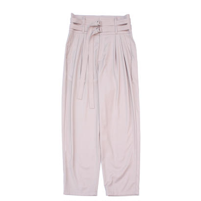 Double Belted Trouser - Gabardine / Pink