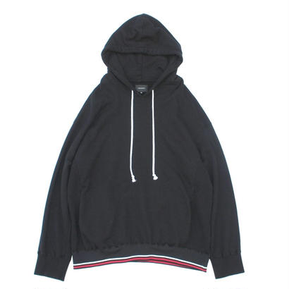 Stripe Rib Over Parka / Black