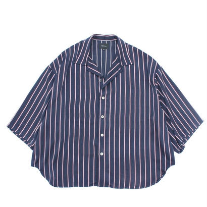 Haori Shirt - Stripe Sateen / Navy