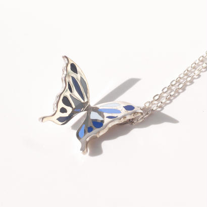 +color!! butterfly necklace | blue