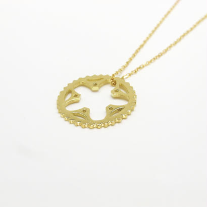 34T chainring necklace | k18yg | small