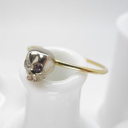 sottile - baby skull ring | dia × amethyst