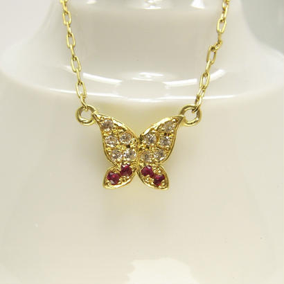 bijou butterfly necklace | dia × ruby