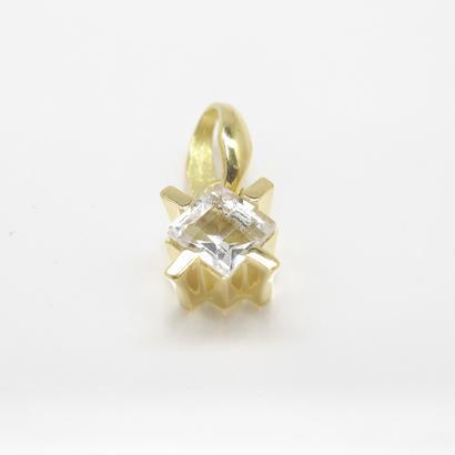 square stone charm | white topaz