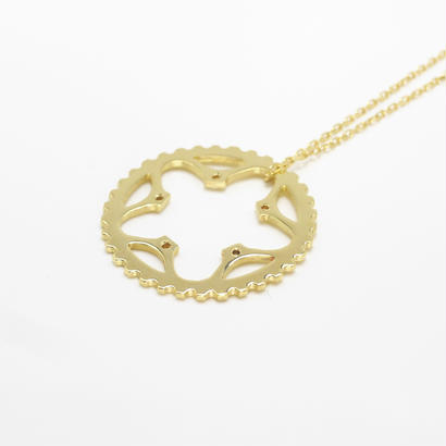 34T chainring necklace | k18yg | large