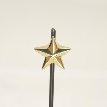 星のエンドキャップ  | Brass