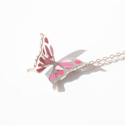 +color!! butterfly necklace | pink