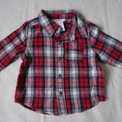 red check シャツ