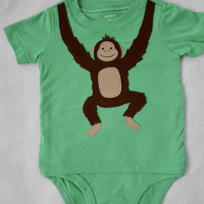 【carter's】monkey ロンパース