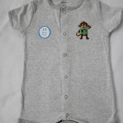 【carter's】 monkey patch ロンパース
