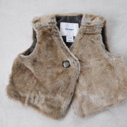 【old navy】short far vest