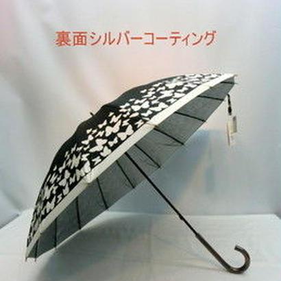 【リクエスト品】傘専門店  通販  東京  日傘 雨傘  晴雨兼用  グラスファイバー  サビない  遮光  遮熱  旅傘  【16本骨  バタフライ Black】