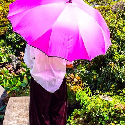 【2019年4月入荷】サクラ骨 傘専門店  通販  東京  雨傘  ワンタッチ  ジャンプ  グラスファイバー  サビない  旅傘  【一枚張り 60㎝ ローズ】