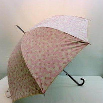 UVカット99% 傘専門店  通販  東京 レディース 日傘  雨傘  晴雨兼用   ワンタッチ  ジャンプ  黒骨  サビにくい 旅傘 【おしゃれ傘   さくらんぼ Pink】