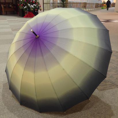 朝顔のよう 専門店  通販  東京  雨傘  ワンタッチ  ジャンプ  グラスファイバー  サビない  旅傘  【16本骨  グラデーション  グレー×パープル】