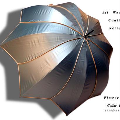 【リクエスト品】 傘専門店 通販 東京 レディース 日傘  晴雨兼用 グラスファイバー 軽量 サビない 旅傘【パイピング Flower Mold  gray 】