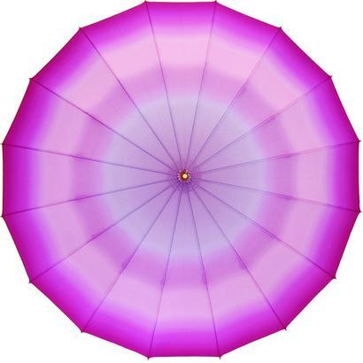 ベストセラー  傘専門店  通販  東京  雨傘  ワンタッチ  ジャンプ  グラスファイバー  サビない  旅傘  【16本骨  ぼかし  外ピンク】