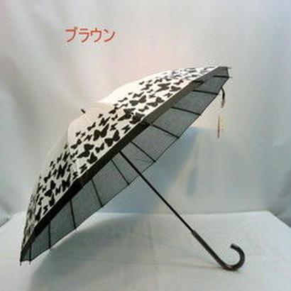 【リクエスト品】傘専門店  通販  東京  日傘 雨傘  晴雨兼用  グラスファイバー  サビない  遮光  遮熱  旅傘  【16本骨  バタフライ Brown】