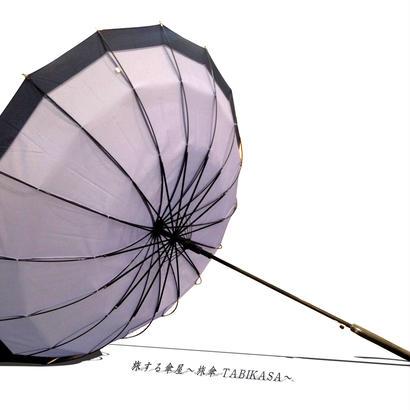 【人気】傘専門店  通販  東京  雨傘  ワンタッチ  ジャンプ  グラスファイバー  サビない  旅傘  【16本骨  和風ツートン  Blue】