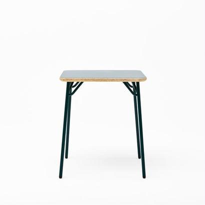 [chii]木片の圧縮材とスチール脚のシンプルテーブル W600