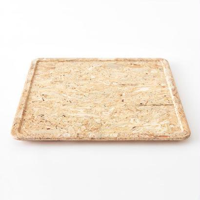 [chii]木片でできた温かみのあるトレー 正方形