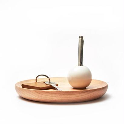 [kime]磁器と木のヴィドポッシュ φ180