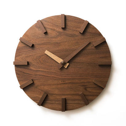 [kime]壁に掛ける木の時計(φ350)