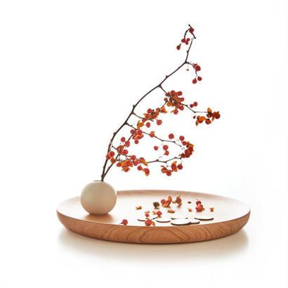 [kime]磁器と木のヴィドポッシュ φ250