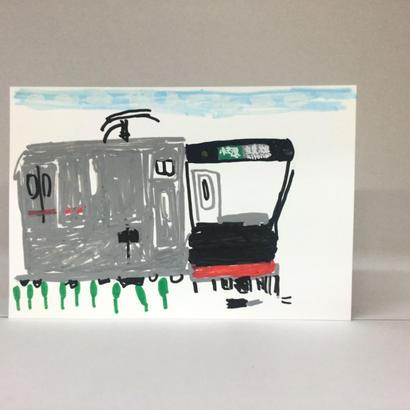 手描きポストカード009「京葉線」