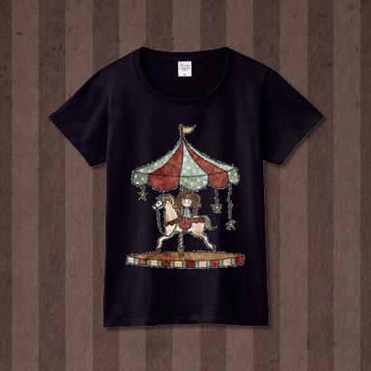 Tシャツ『パルコフェリーチェ』杢ブラック