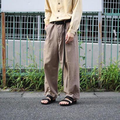 40'~50's Japan vintage two tuck slacks