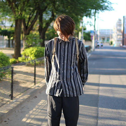 japnese style stripe long sleeve shirts