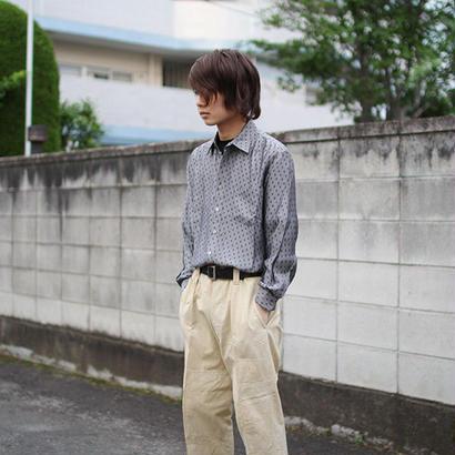 rhomboid pattern gray long-sleeve shirts