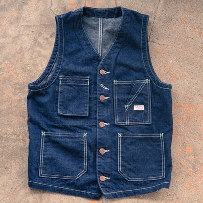 TCB TABBYS VEST Selvedge Covert DENIM