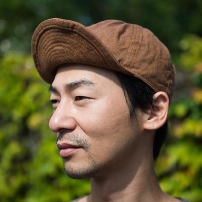 TCB40's CAP  Brown DENIM