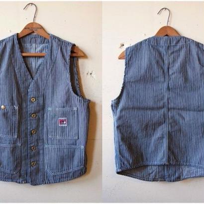 Foremen Vest (Hickory) / エンジニアベスト ヒッコリー