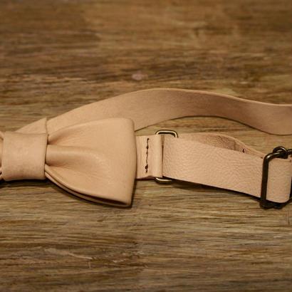 TADPOLE  leather 蝶ネクタイ :無地
