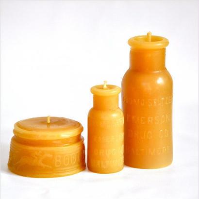 【SALE】Charm City ギフトセット - アンティークボトルの蜜蝋キャンドル