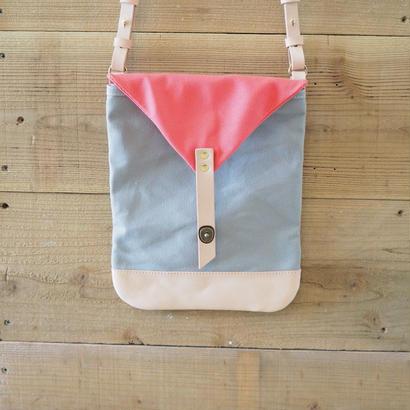 帆布Book Bag(グレー×ヴァーミリオン)