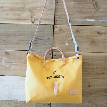 帆布LIFE Bag(マスタード×グレー)